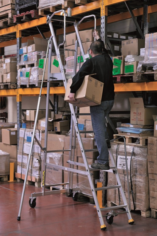 stainless steel kitchen carts clocks wine theme proper safety ladder usage - the shelving blog