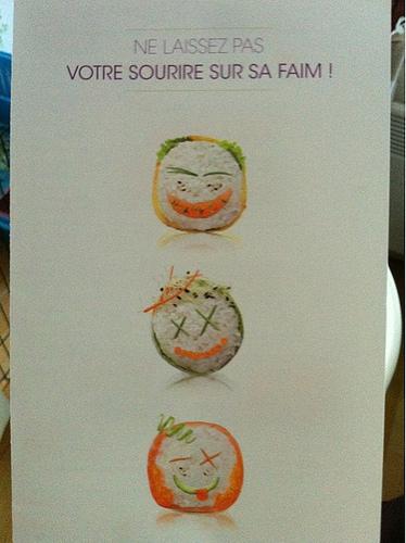 Marrante cette pub de sushi :)