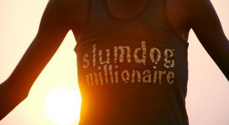"""Slumdog Millionaire"" logo, opening credits"