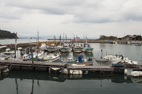 上蒲刈島の大浦港