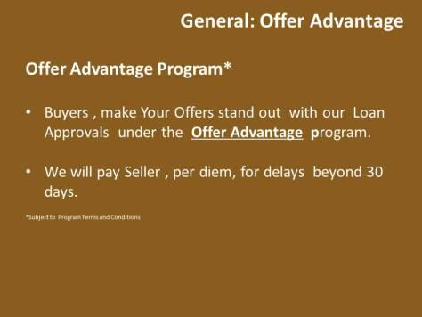 Offer Advantage Program