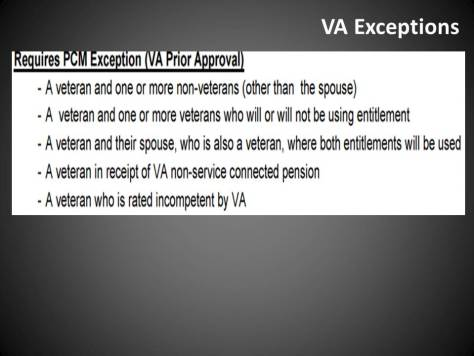 VA Exceptions