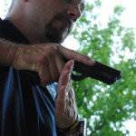 "The ""judi chop"" position, where the support hand drives up under (hard) the trigger guard is a key area for pressure that minimizes the downward movement of the gun by the other hand."