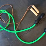 "This picture shows the ""heavy"" and ""light"" jump ropes referred to in the circuit."