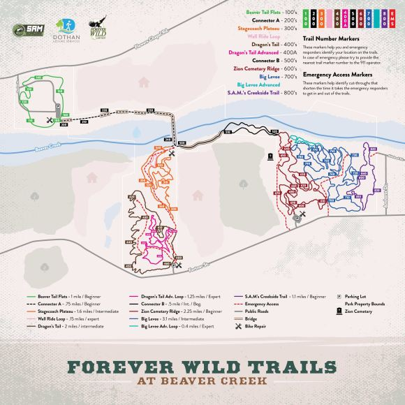 Forever Wild Trails at Beaver Creek Trail Map