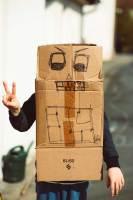 Summer Kids Activities - Cardboard box robots