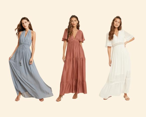 Three Women in Maxi Dresses