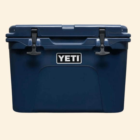 Navy Yeti Tundra Hard Cooler