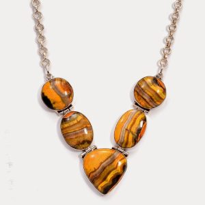 Bumble Bee Jasper necklace.