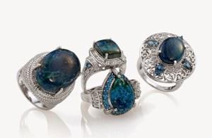 Set of four Table Mountain Shadowkite rings.