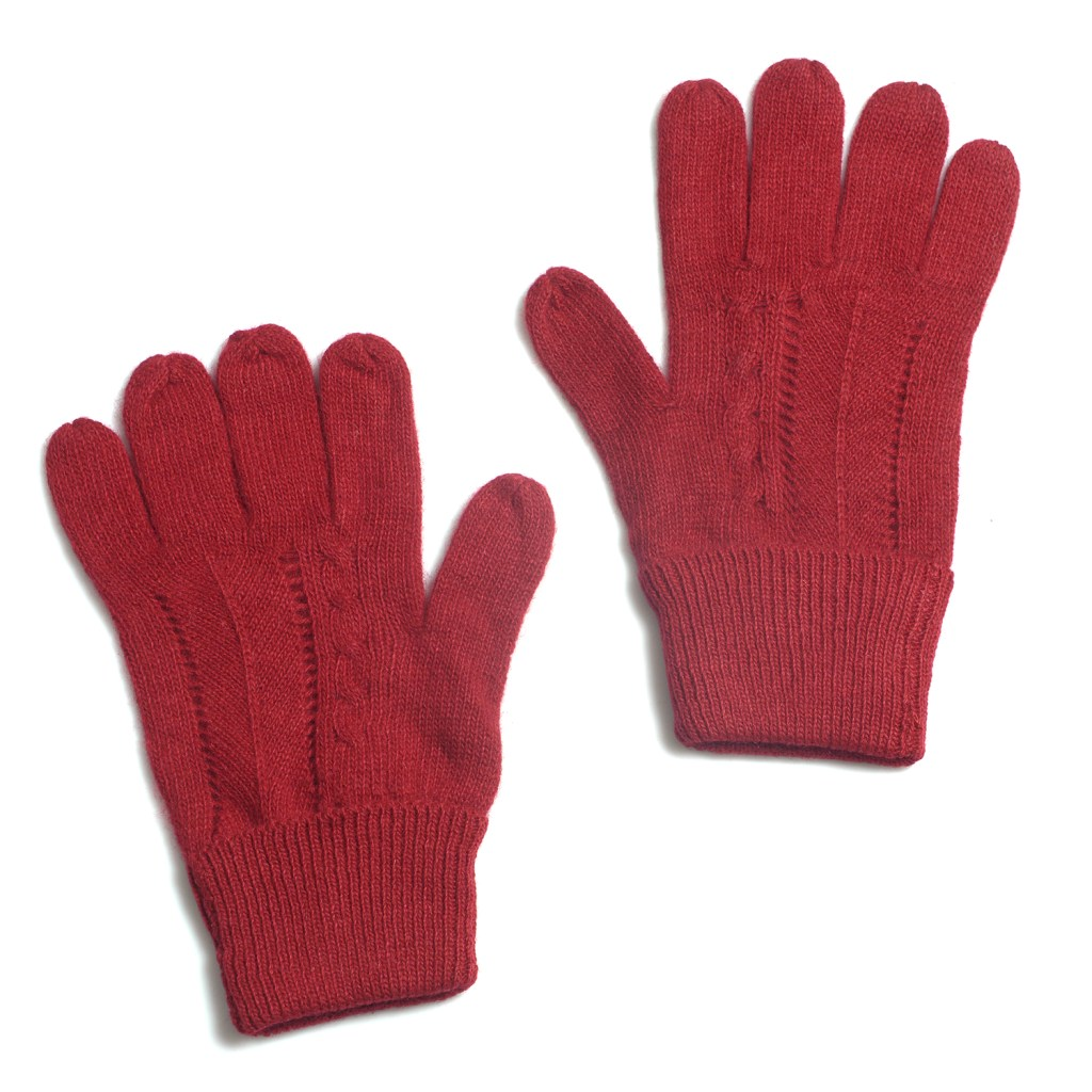 Red cozy gloves