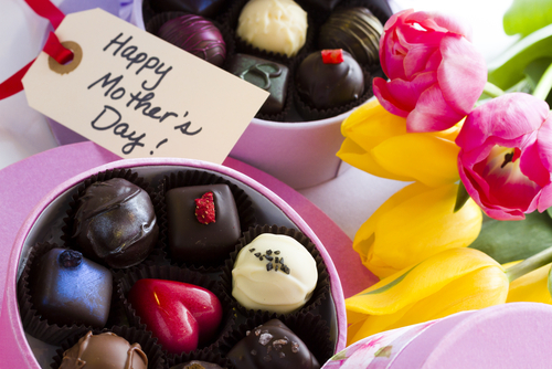 Selection of Mother's Day chocolates.