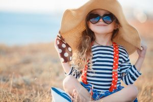 A nice summer hat is stylish and functional.