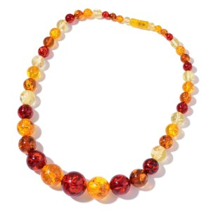 synthetic amber necklace