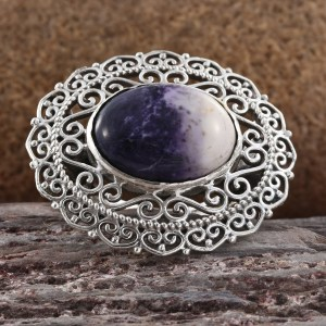 Utah Tiffany Stone cocktail ring in sterling silver.