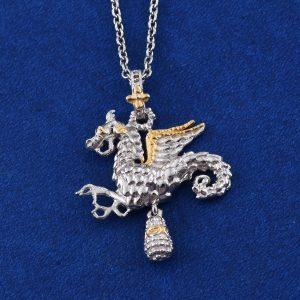 Contemporary interpretation of a dragon necklace
