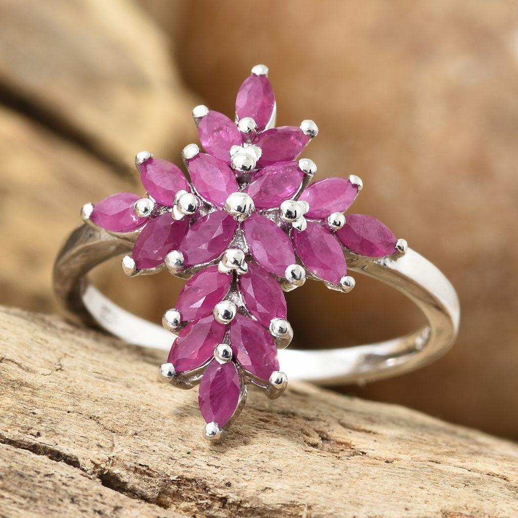 Magenta cross ring