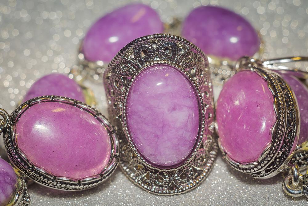 Closeup of purple rings
