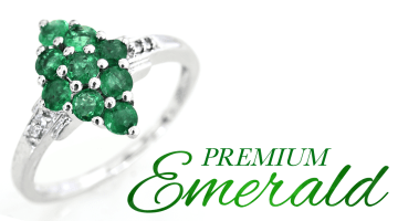 Introducing Premium Brazilian Emerald Banner Image.