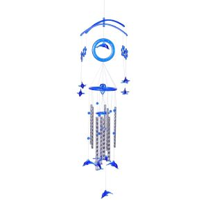 blue wind chimes