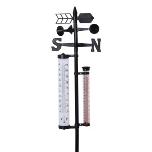 weather vane with thermometer