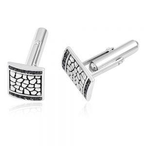 Men's silver cufflinks.