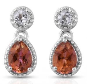 Mystic Topaz earrings.
