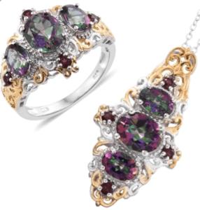 Mystic Topaz jewelry set.