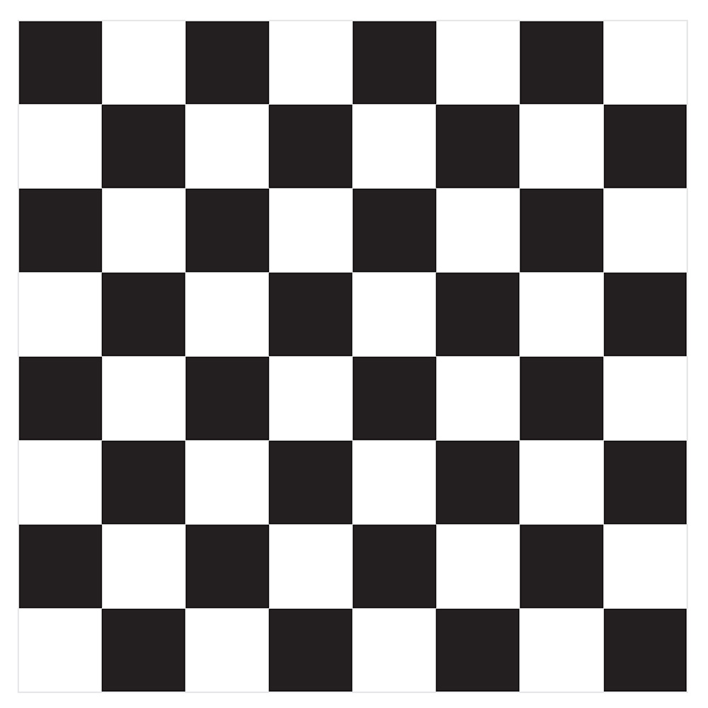 Checkered pattern.