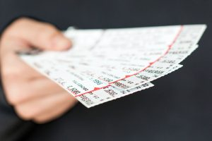 handful of tickets