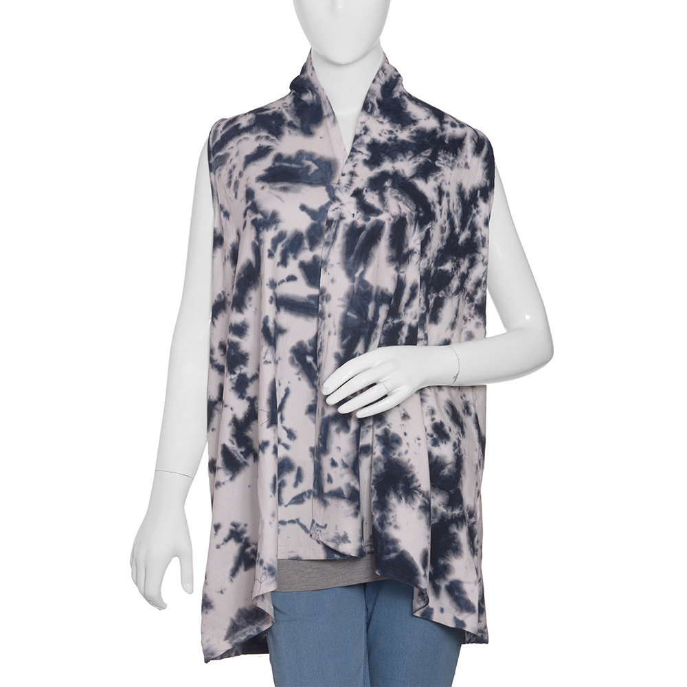 Black and white tie-dye shirt on mannequin