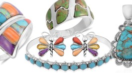 Collage of Sante Fe jewelry
