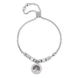 Tree of Life charm bracelet with bolo slide closure.
