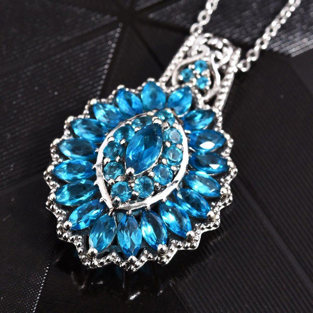 Malgache Neon Apatite Pendant Necklace