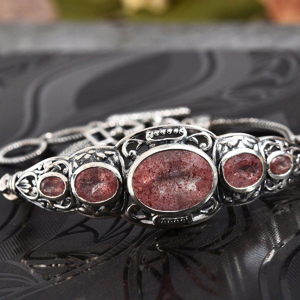 Cherry Tanzurine, Zircon Ring in Platinum Over Sterling Silver