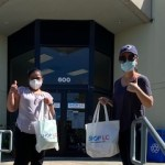 Shop LC giving masks to ATX Hospital Meals.
