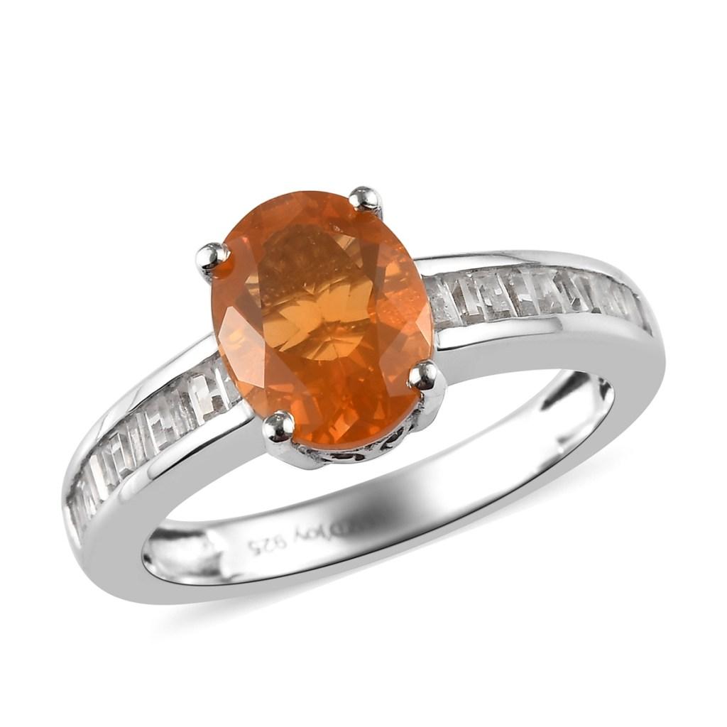 Jalisco Fire Opal ring in sterling silver.