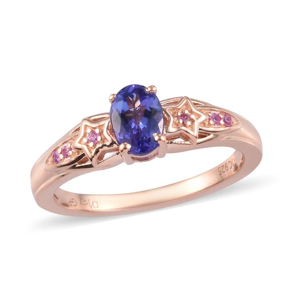 Rose gold tanzanite ring.