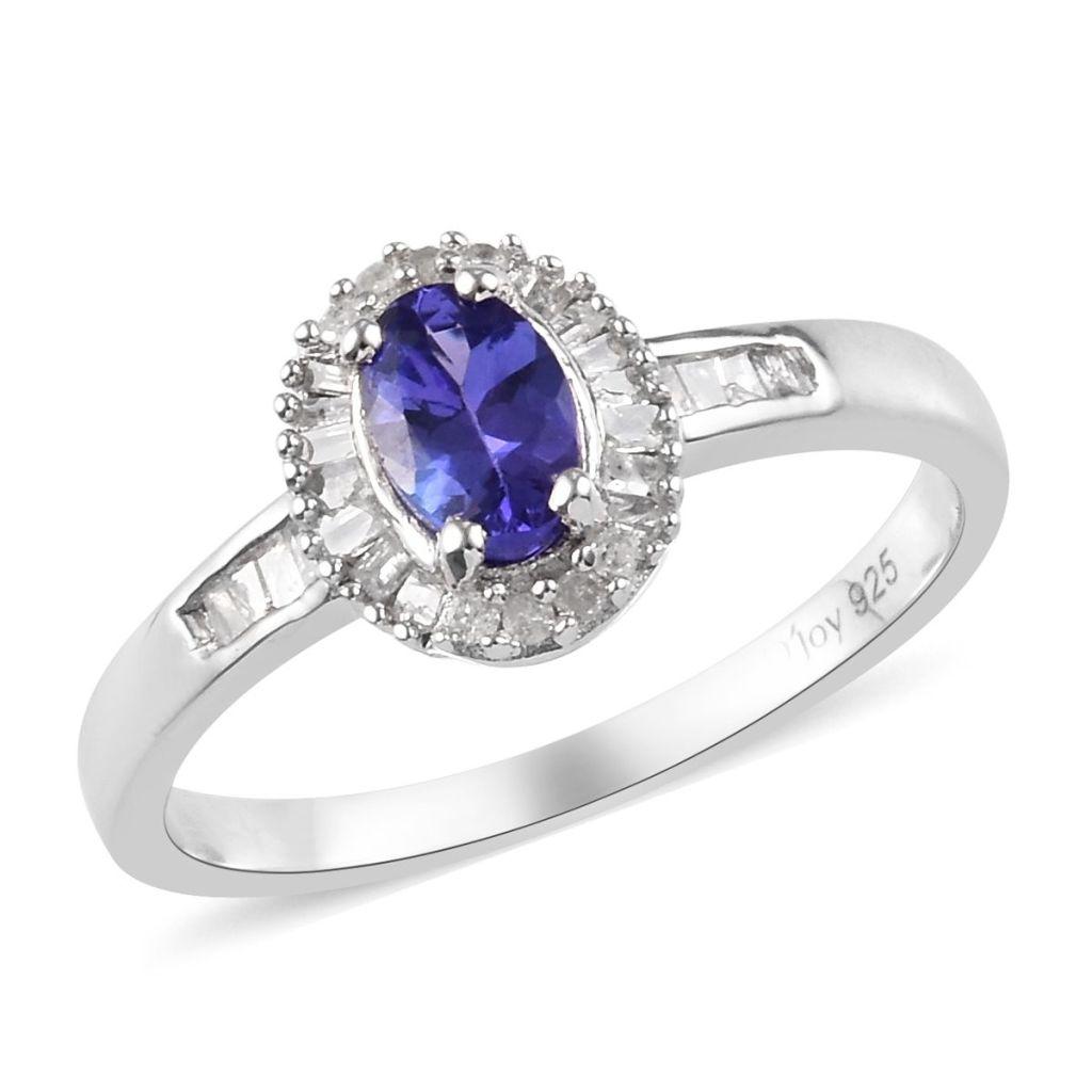 Oval tanzanite ring.