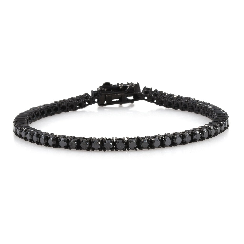Black diamond tennis bracelet.