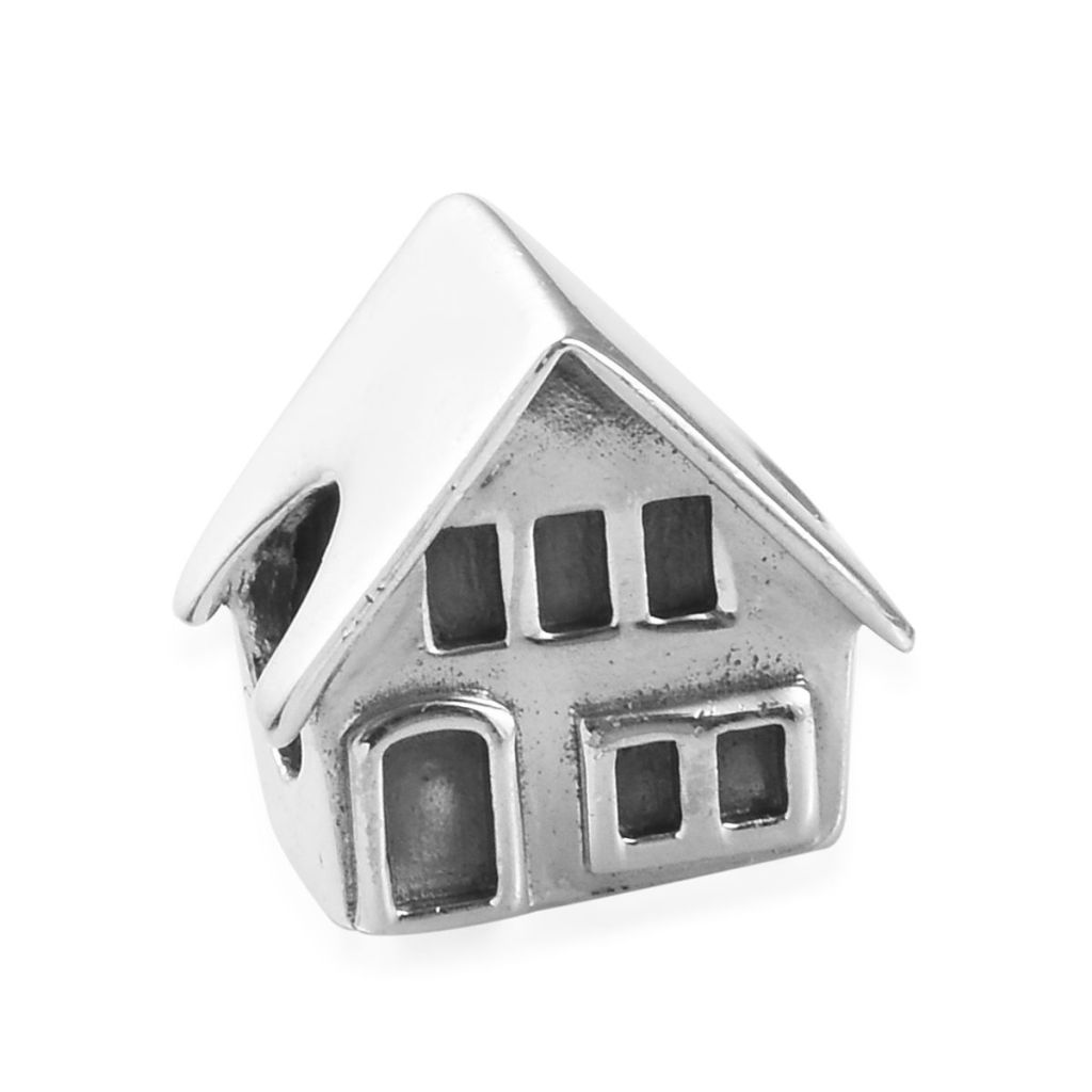 Sterling silver house charm.