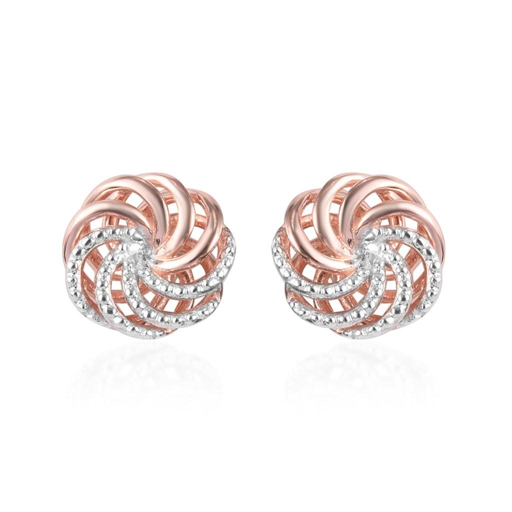 Gold statement earrings.