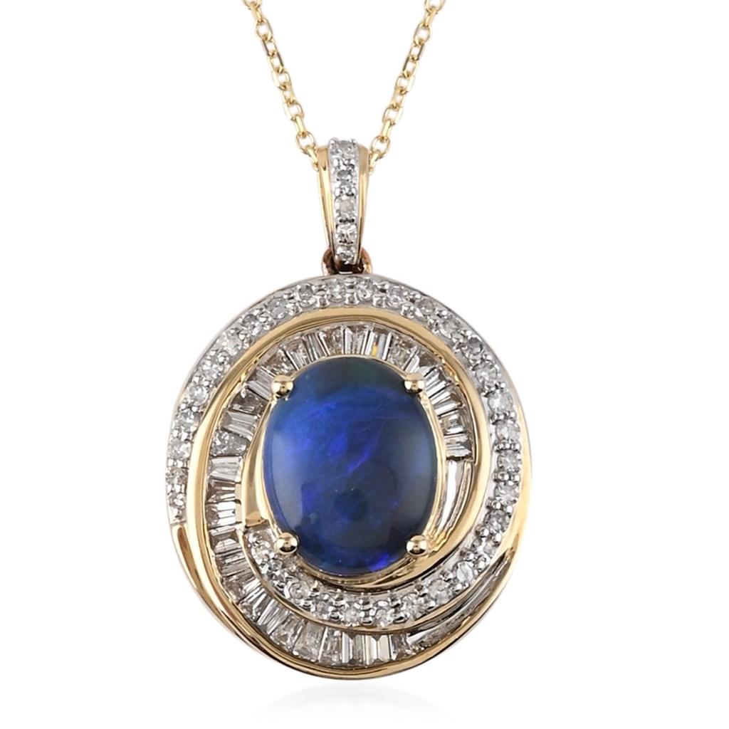 Black opal necklace.