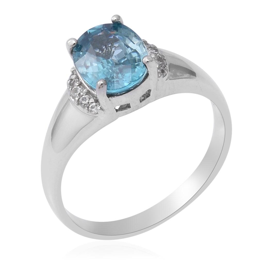 Blue zircon vintage ring.