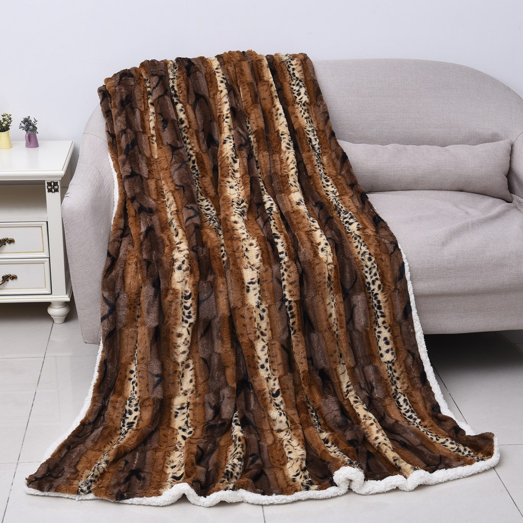 Deer stripe throw blanket.