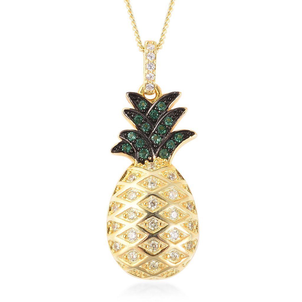 Gold pineapple necklace.