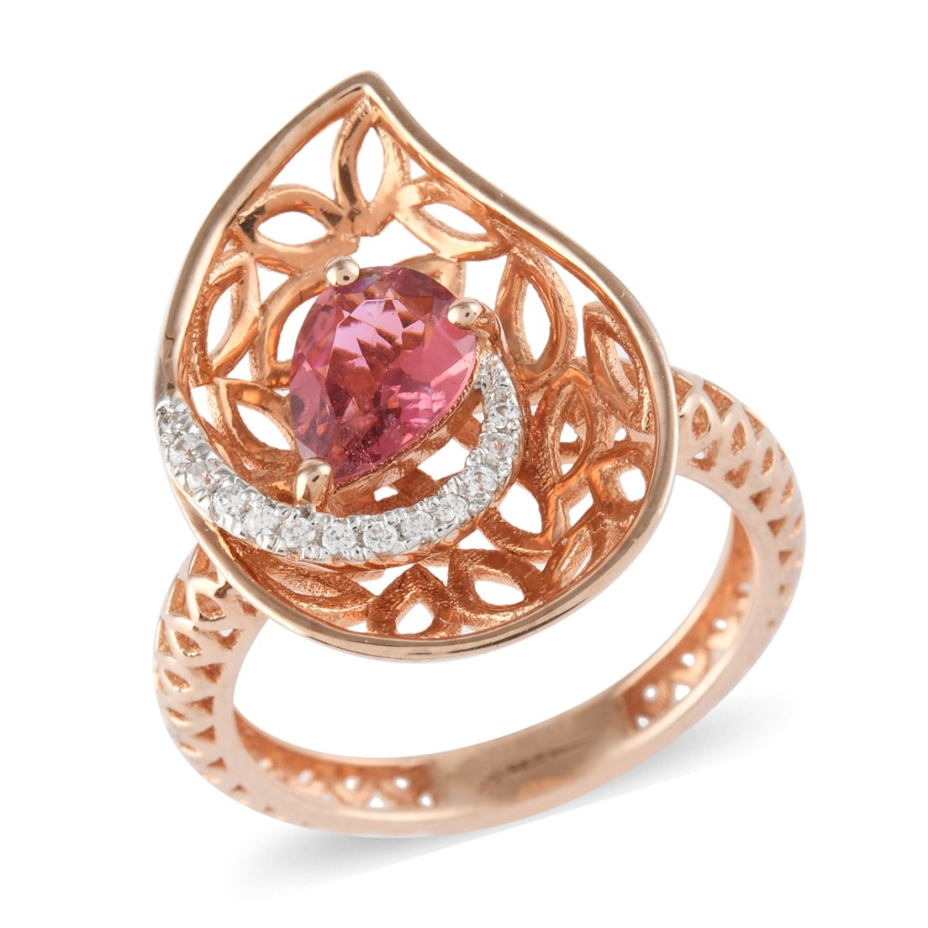 Pink art ring.