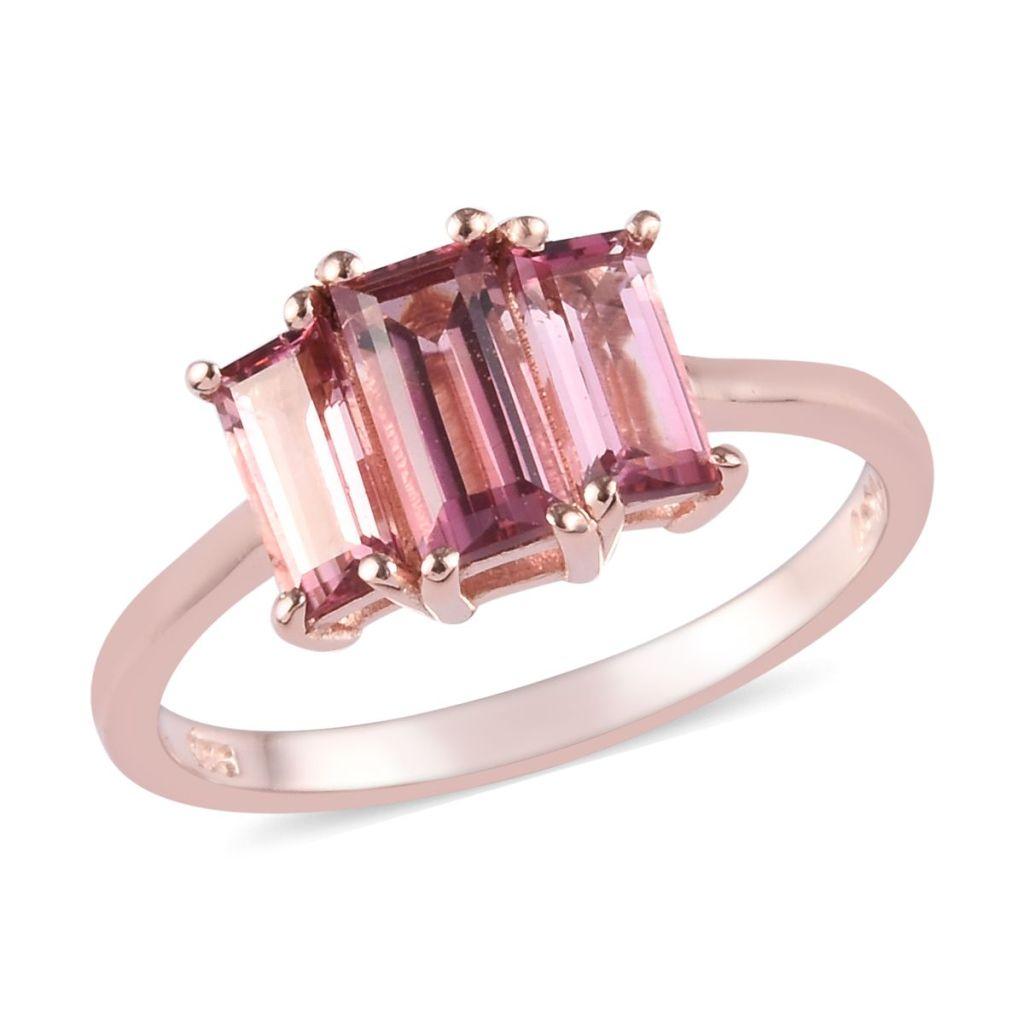 Pink tourmaline ring rose gold