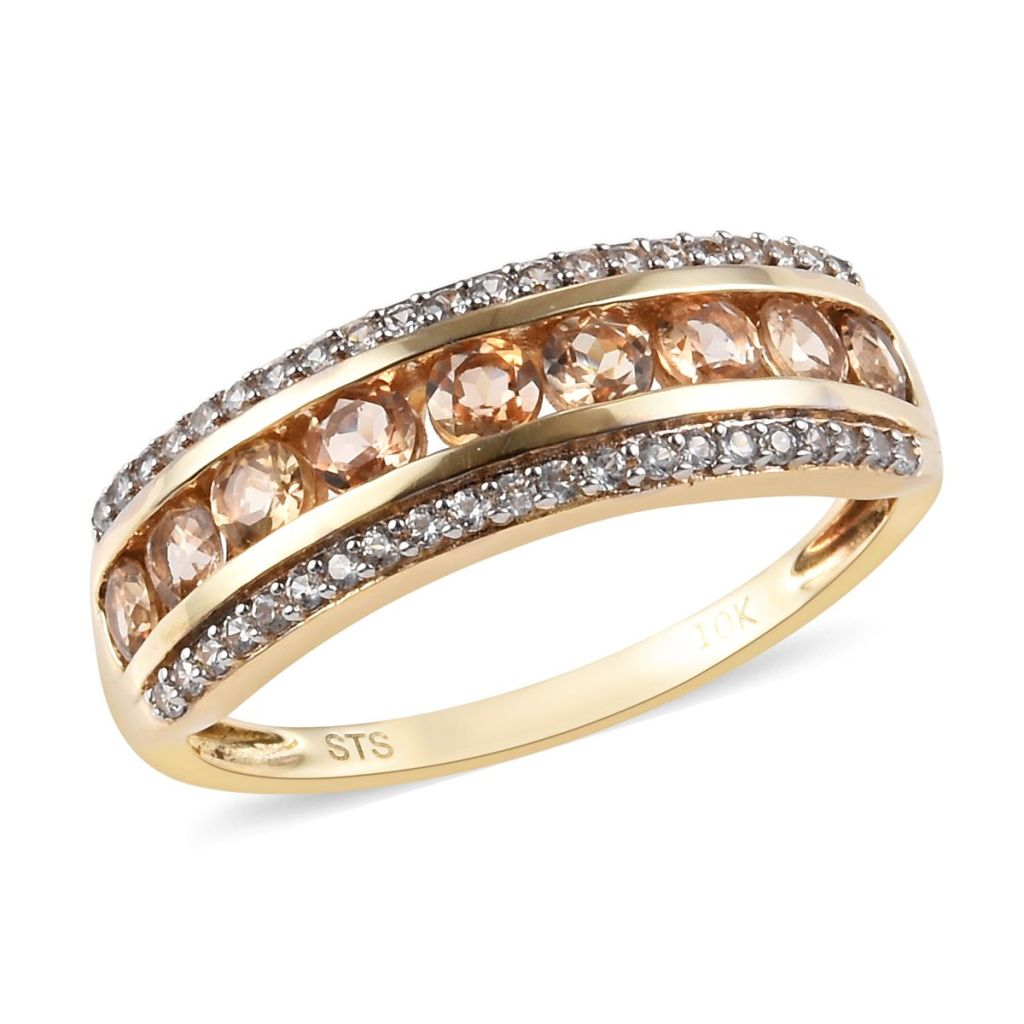 Topaz band ring.