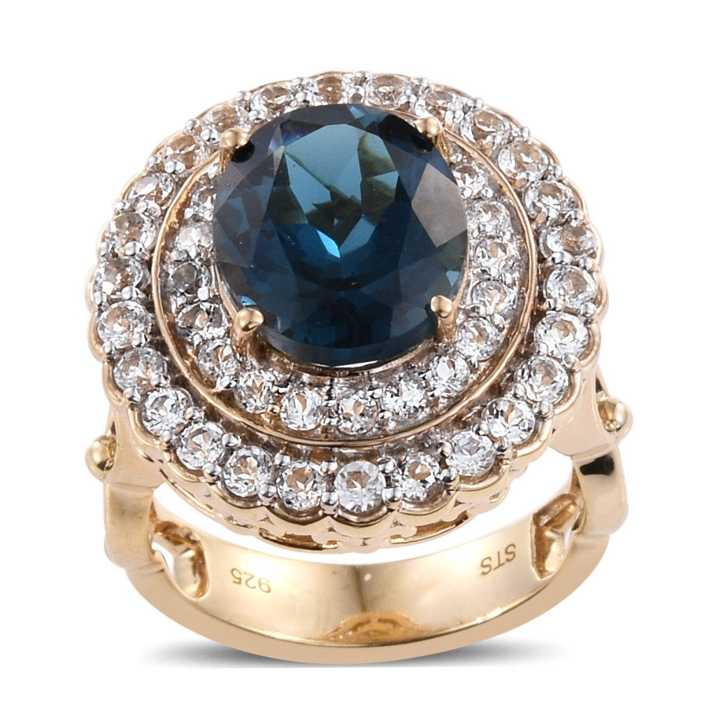 Topaz halo ring.